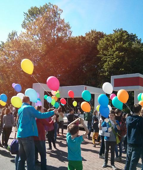 Luftballon-Start
